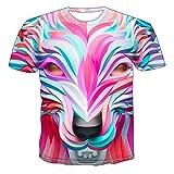SSBZYES Camiseta para Hombre Camiseta De Manga Corta De Talla Grande para Hombre Camiseta De Cuello Redondo para Hombre Camiseta De Lobo Creativo para Hombre Camiseta De Manga Corta De Malla Creativa
