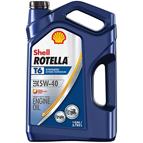 Shell ROTELLA T6 5W-40 Full Synthetic Diesel Engine Oil, 1 Gallon