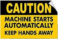 目新しさのブリキ看板注意マシンが自動的に手を離しますStyle2156ブリキの壁看板レトロな鉄の絵ヴィンテージメタルプラーク装飾警告ポスターバーカフェストアガレージ