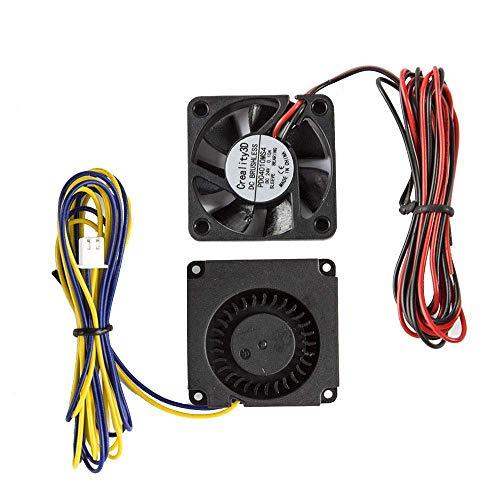 Creality Ender 3 / Ender 3 Pro/Ender 3 V2 Ventiladores originales 4010 Ventilador extrusor de 24V DC y ventilador Turbo de 24V DC