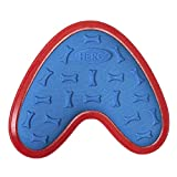 Hero Outer Armor, Boomerang Fetch Disc Dog Toy, Floats & Squeaks, Blue