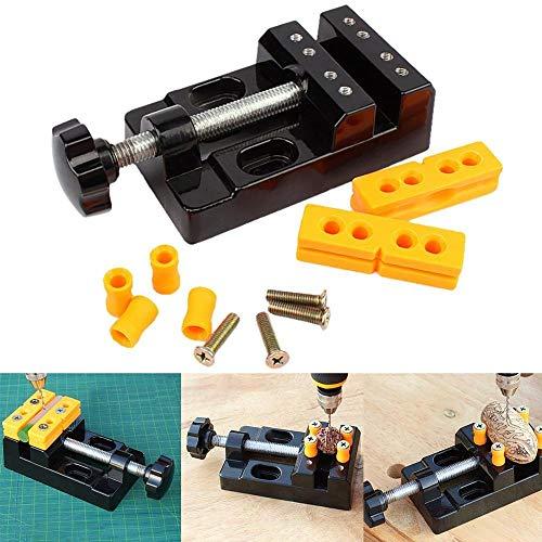 JCMY DIY-Werkzeuge 1pc Schwarz-Kiefer-Bank Clamp Mini Bohrmaschine Vice Micro Clip Opening Tabelle Wohnung Vise DIY Handwerkzeuge 13.5x6.5x3.6cm Parallel Für Dekoration