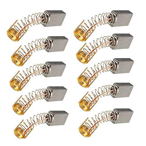 Escobillas de Carbón Motor de Carbón,10 Pcs Carbones para lavadora,5 * 8 * 13 mm Motores con Cepillo de Carbón Compatible con Motor para Lavadora de Bosch Siemens