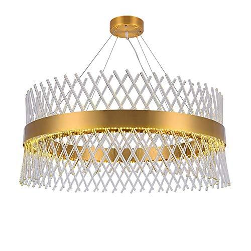 CSD Lámparas Lámpara moderna del oro que cuelga araña de cristal de luz de la lámpara del hogar KTV hotel restaurante decoración de la lámpara