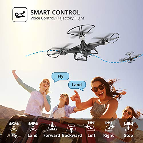 Holy Stone HS110D FPV RC Drone con cámara HD 1080P Video en vivo 120 ° Gran angular WiFi Quadcopter con ...