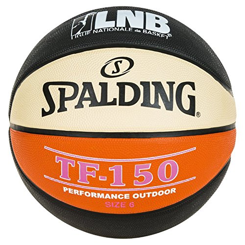 Spalding LNB Pallone da Basket Misto, Unisex, 3001510000000, Noir/Orange/Blanc, Taglia 7