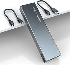 M.2 NVME SSD Carcasa Externa, Caja NVMe PCIe USB 3.1 Gen2 10Gbps, Carcasa Disco Duro Thunderbolt 3 Adaptador para SSD M.2 ...