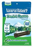 Natural Balance Dental Chews Dog Treats, Fresh & Clean Formula, 13 Ounce Pouch, Medium Size, Grain Free