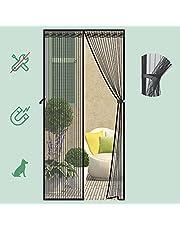 VEILIGHEID Magnetisch Vliegscherm Deur Houd Insecten Uit, Muggendeur Scherm Seal Automatisch voor Balkon Schuiven Woonkamer Kinderkamer 100 * 210 cm