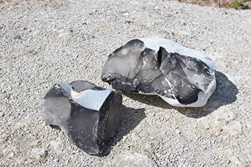 Konvoysg English Flint Pierre pour une utilisation avec une en acier carbone Striker d'urgence est livré avec un petit sac de jute