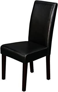 Monsoon Pacific Villa Faux Leather Dining Chairs (2 Set), Black