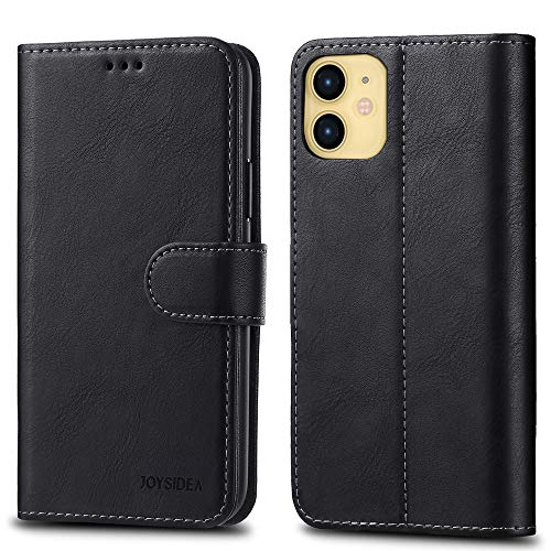 JOYSIDEA iPhone 11 Wallet Case with Card Holder, Premium PU Leather Slim Flip Folio Case with Kickstand and Shockproof TPU Cover for iPhone 11 6.1 inch, Black
