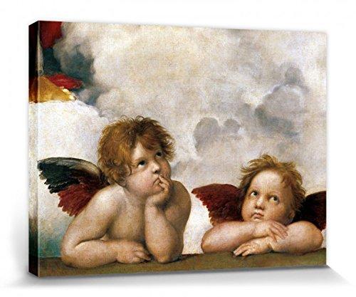 1art1 Raphael - Raffaels Engel (Detail) Bilder Leinwand-Bild Auf Keilrahmen   XXL-Wandbild Poster Kunstdruck Als Leinwandbild 40 x 30 cm
