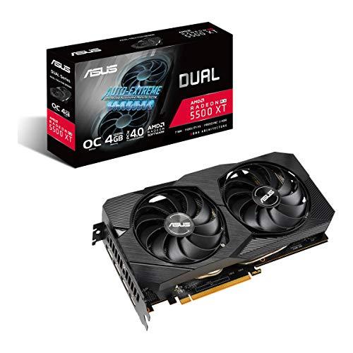ASUS Dual EVO AMD Radeon RX 5500 XT OC Edition, Scheda Video Gaming, 4 GB GDDR6, HDMI, DisplayPort, Otimo per Gaming FullHD, Ventole AxialTech, Backplate in Metallo, Tecnologia Auto-Extreme