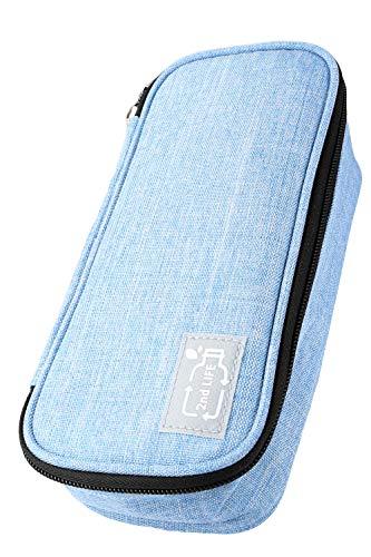 2nd LIFE großes Federmäppchen/Schlamper Mäppchen, Material aus recyceltem PET für eine saubere Umwelt, Schlamperbox mit Reißverschluss für Mädchen & Jungen, Abmessung 22x10x6 cm