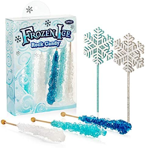 Frozen Ice Rock Candy Sticks 10 Individually Wrapped Rock Candy on a Stick 2 Wands Includes product image