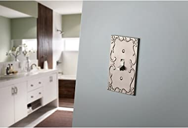 Franklin Brass W35073-SN-C Classic Lace Double Switch Wall Plate/Switch Plate/Cover, Satin Nickel