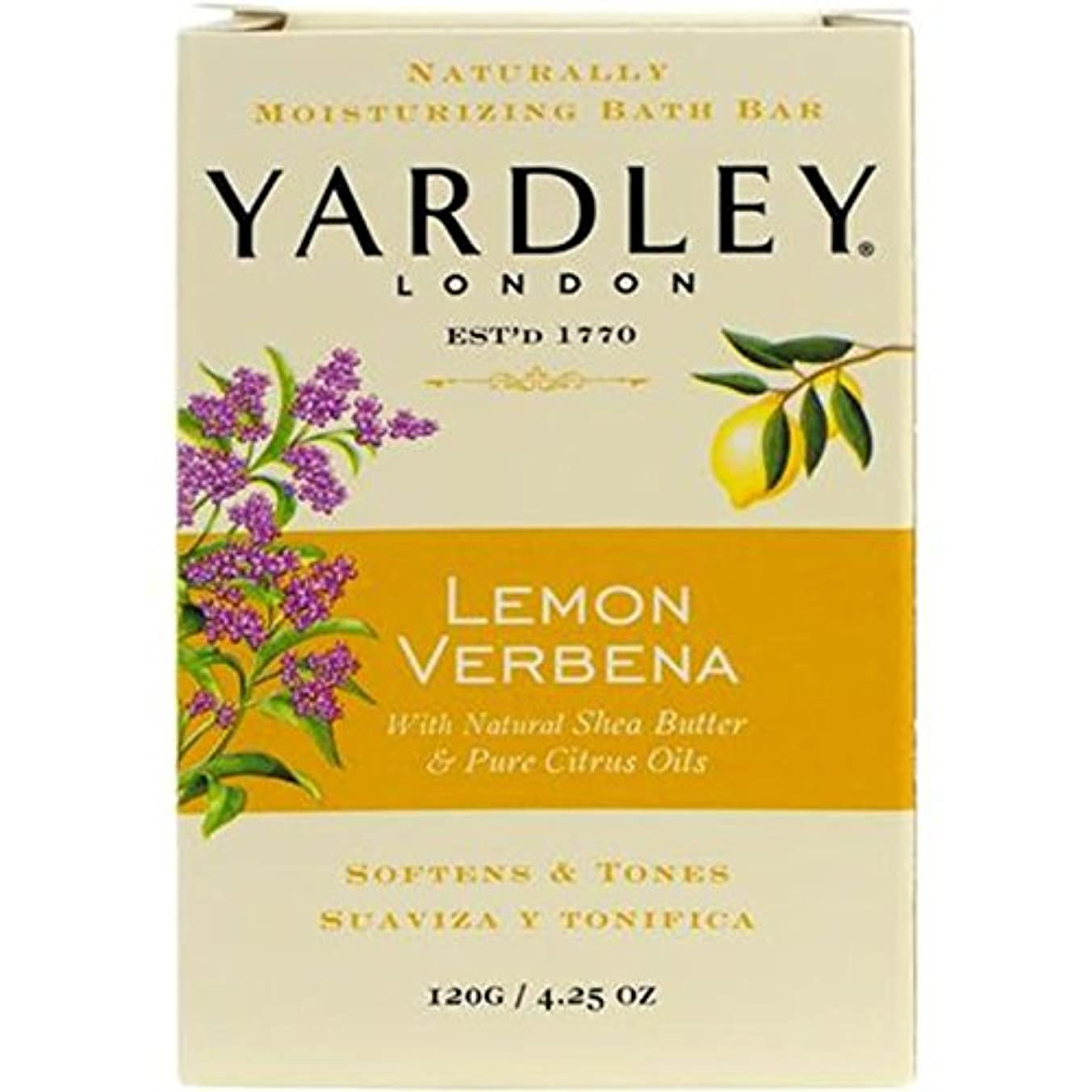 音声野ウサギ慰めYardley London Lemon Verbena Bath Bar by Yardley