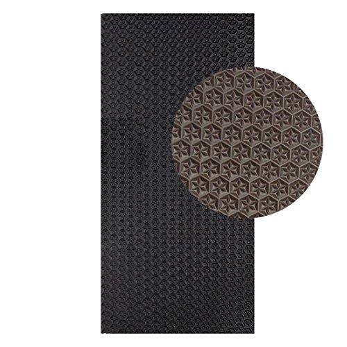 Langlauf Schuhbedarf Sohlengummiplatte 250mm x 500mm 6mm stark Profil Star in verschiedenen Farben zur Anfertigung von Schuhsohlen oder als Anti Rutsch Belag - 6 mm Stärke (braun)