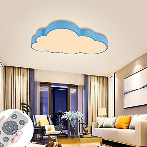 ADEMAY 64W LED nuvole plafoniera blu dimmerabile soggiorno con telecomando design moderno camera da letto plafoniera sala illuminazione a soffitto (64W-Conchiglia blu)