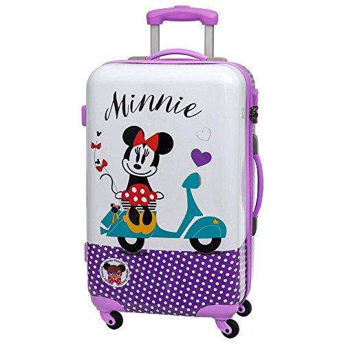 Disney Minnie Vespa Maleta Mediana Rígida, Color Morado, 62 litros