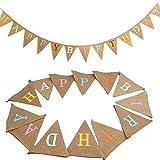 """4M Striscioni Bandierine Striscione di compleanno bandierine triangolari Striscione """"Happy Birthday""""bandierine vintage bandierina banner per feste di compleanno Partito All'aperto"""