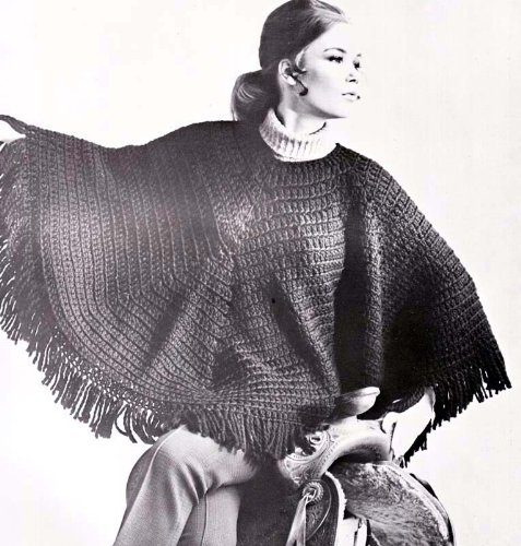 Easy Double Crochet Hippie Poncho Pattern EBook Download (English Edition)