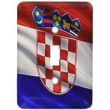 3drose LSP _ 180011_ 1Flagクロアチアの風になびくSingle切り替えスイッチ