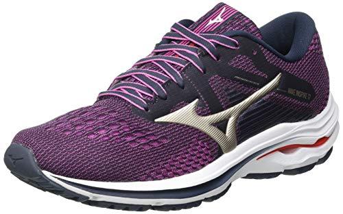 Mizuno Wave Inspire 17, Zapatillas para Correr Mujer, Indiai Pgold Ignitionred, 39 EU