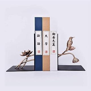 Ambipolar Decorative Bird Theme Bookend, Heavy Duty Cast Iron, Vintage Shelf Decor, Antique Black