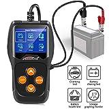 KW600 Testeur de Batterie Automobile 12V Testeur de Charge de Batterie Automatique 100-2000CCA Analyseur de Charge de Batterie de Voiture et testeur d'alternateur pour Voiture, Bateau, Moto