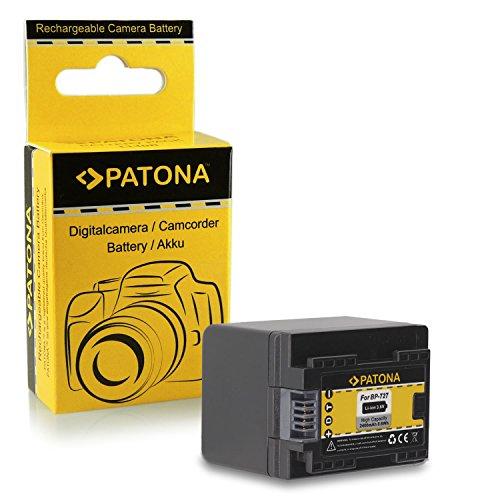 Batería BP-727 BP727 para Canon LEGRIA HF M52 | HF M56 | HF M506 | HF R36 | HF R37 | HF R38 | HF R46 | HF R47 | HF R48 | HF R306 | HF R406 - Canon VIXIA HF M50 | HF M52 | HF M500 | HF R30 | HF R32 | HF R40 | HF R42 | HF R300 | HF R400 y mucho más… [ Li-ion; 2400mAh; 3.6V ]