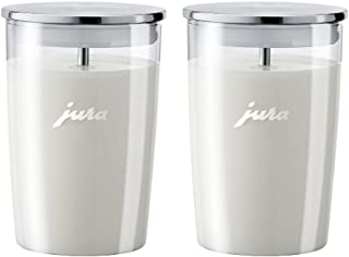 Jura 72570 Glass Milk Container, Clear (Pack of 2)