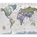 murando Fotomurales Mapamundi 400x280 cm XXL Papel pintado tejido no tejido Decoración de Pared decorativos Murales moderna de Diseno Fotográfico Mapa del mundo k-A-0380-a-a