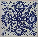 COLOR Y TRADICIÓN Mexican Talavera Tiles Handmade 6x6 Stairs Backsplash 4 pcs C171