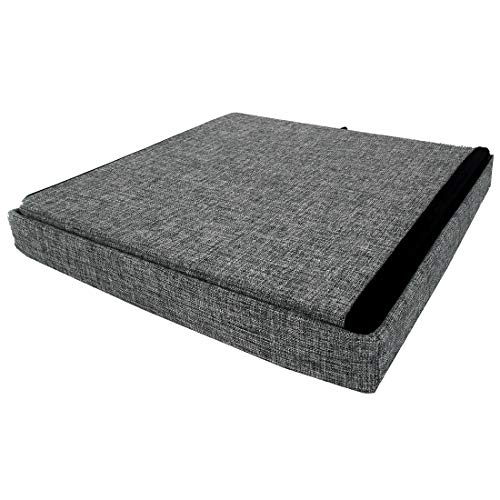 Seville Classics Foldable Storage Footrest Toy Box Coffee Table Chest Ottoman, 1-Pack, Modern Gray