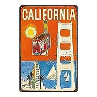 カリフォルニアブリキサインヴィンテージノベルティ面白い鉄の絵の金属板