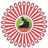 Kunststoff Ersatzmesser, Kunststoffmesser Rasentrimmer(60 pcs), Rasentrimmer-Klingen, Kunststoffmesser Set, Rasentrimmer Messer, Rasentrimmer Zubehör, Ersatzmesser für Akku Rasentrimmer