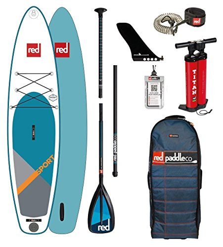 Red Paddle Co 2018 Sport 11'3 Inflatable Stand Up Paddle Board +...