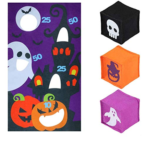 Pumpkin Hanging  Children Fun Shot Game Ghost Pumpkin Hanging Flag Halloween Punching Bag Throw Home & Garden Home Decor Christmas for Faclot