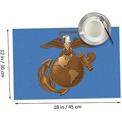 Eagle Globe Anchor USM Marine Corps Tischsets 4er-Set, Tischsets aus Stoff für Esstisch Waschbare Tischsets12x18 Zoll
