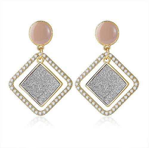 Yhhzw Crystal Earrings For Women Statement Geometric Gold Hanging Dangle Drop Earring Female Jewelry
