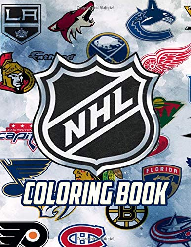 NHL Coloring Book: All National Hockey League Team Logos