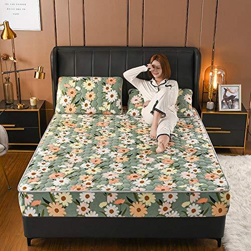 LCFCYY Sábana Bajera Ajustable Suave y cómoda,Sábanas Gruesas de vellón Coralino, Funda de Almohada cálida para colchón de Dormitorio para Cama Individual Doble tamaño King F 200x220cm (3pcs)