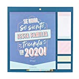 Mr. Wonderful WOA09846ES, Calendario Familiar, Talla Única, Multicolor