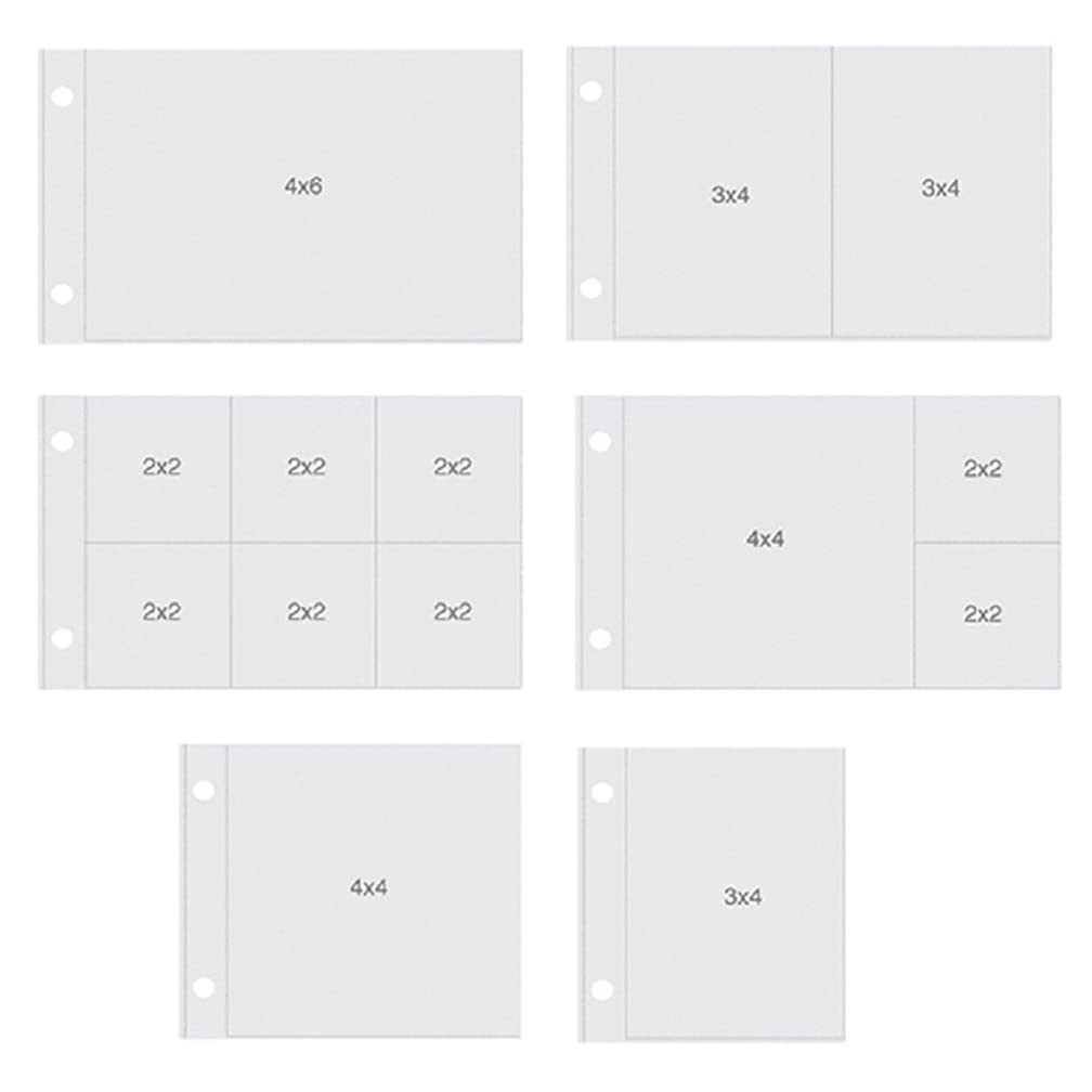 Simple Stories SNAP4091 Snatp Horizontal Pocket Pages for Binders (12 Pack), 4