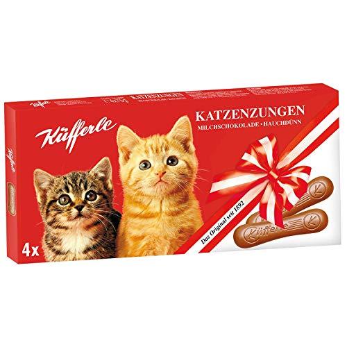 Küfferle Katzenzungen XXL, Milchschokolade, 75g (4er Pack)