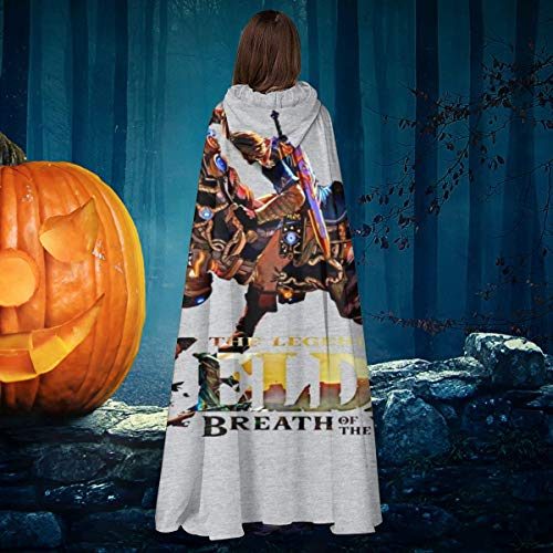 AISFGBJ Zelda Breath of The Wild Motorrad-Kostüm, Unisex, Weihnachten, Halloween, Hexe, Ritter mit Kapuze, Vampirumhang
