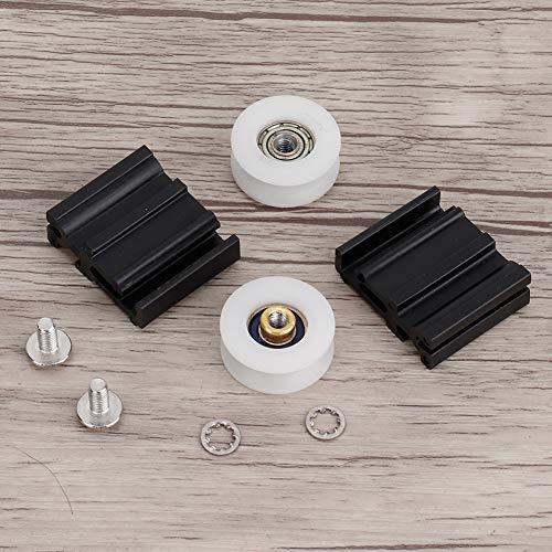 Oumefar Rueda de Puerta Duradera de 22 mm, Kits de reemplazo de Rueda de Puerta de fácil instalación, Rueda de Puerta de Invernadero Multifuncional fácil de Reciclar, Invernadero para el hogar
