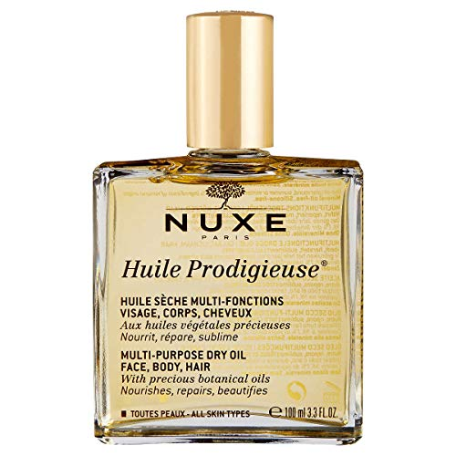 Evaxo Huile Prodigieuse Multi-Purpose Dry Oil Nourishes, Repairs and Softens For Skin and Hair Non-Greasy, Lightweight .#B